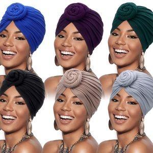 Solid Color Elastic Turbans